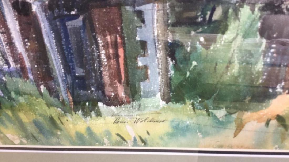 LUIS WOLCHONOK Framed Matted Watercolor - 4
