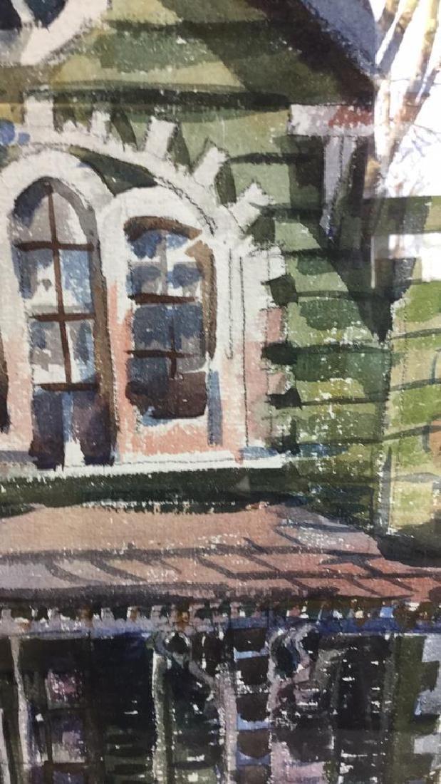 LUIS WOLCHONOK Framed Matted Watercolor - 5