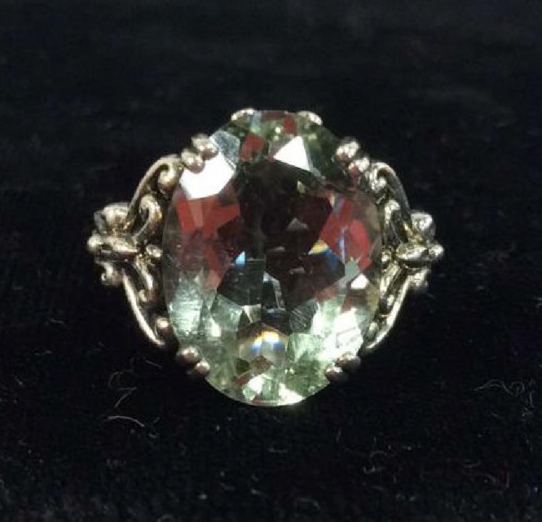 Lot 2 Sterling Silver Rings W Greens Gemstones - 3