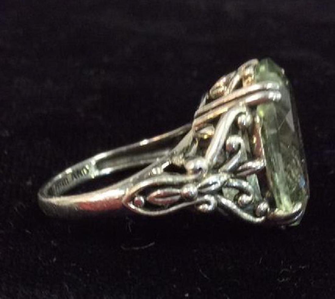 Lot 2 Sterling Silver Rings W Greens Gemstones - 4