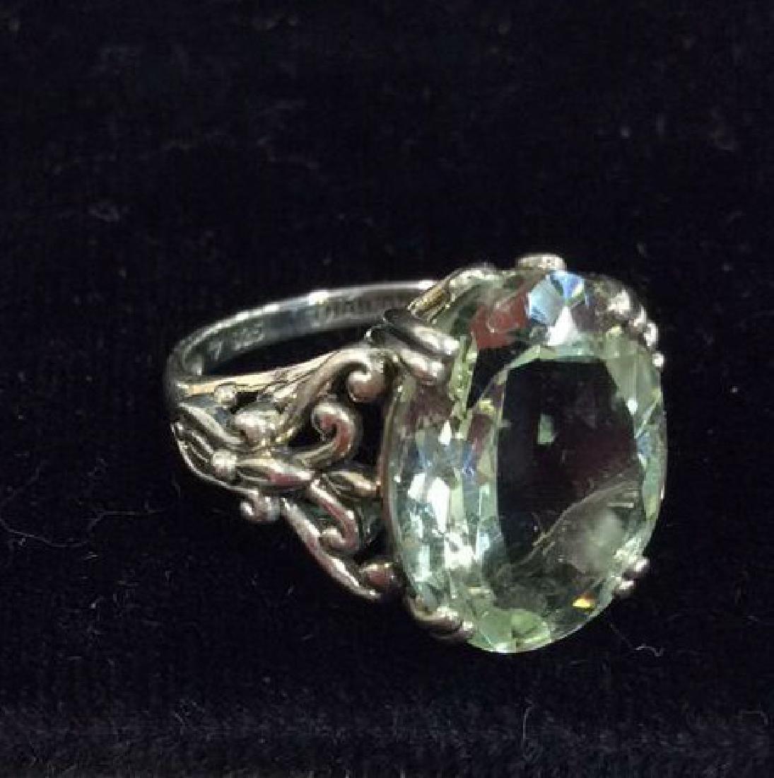 Lot 2 Sterling Silver Rings W Greens Gemstones - 5