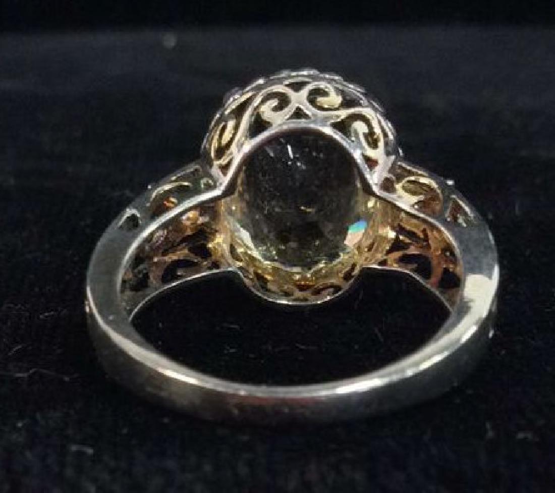 Lot 2 Sterling Silver Rings W Greens Gemstones - 8