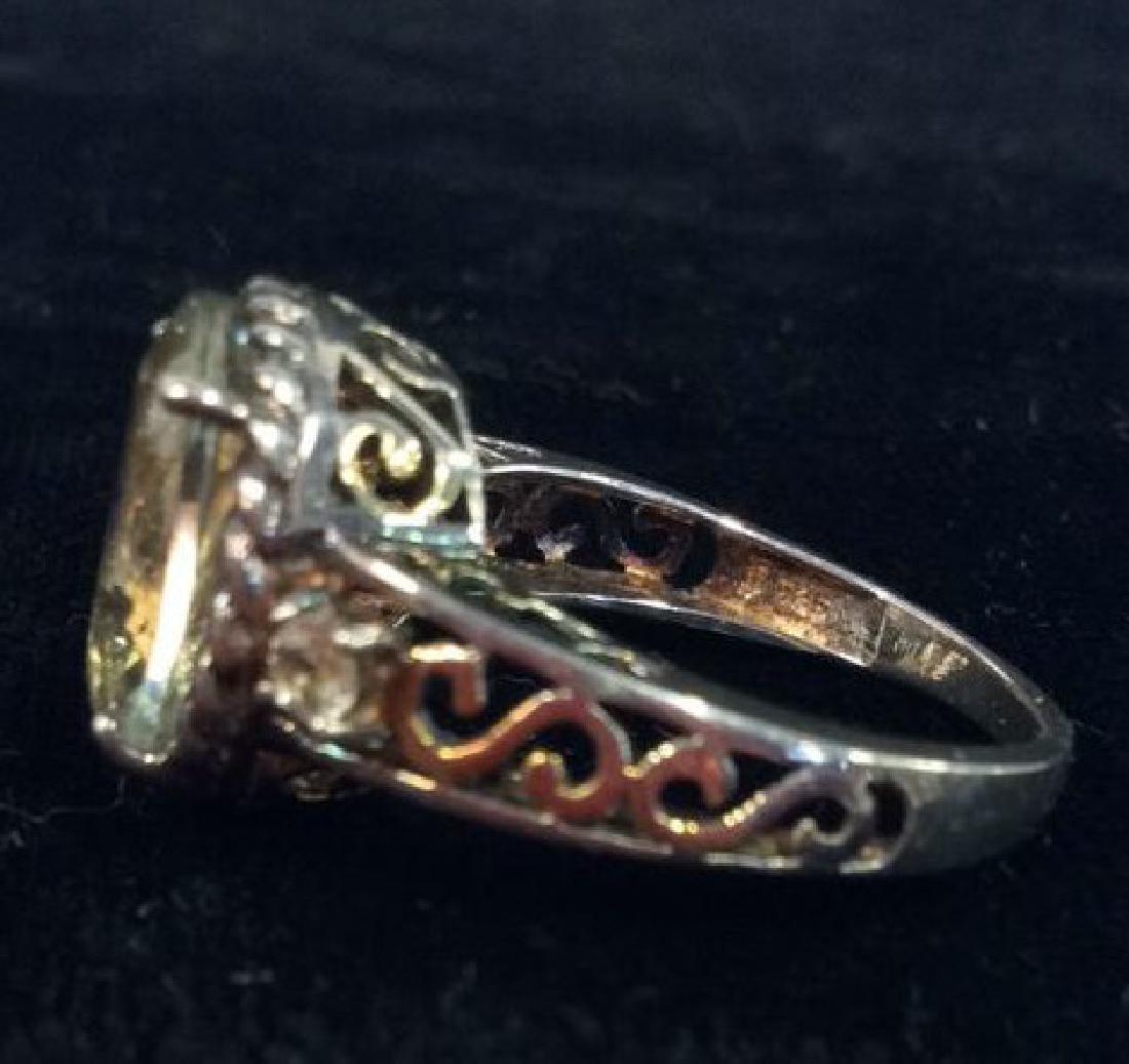 Lot 2 Sterling Silver Rings W Greens Gemstones - 9