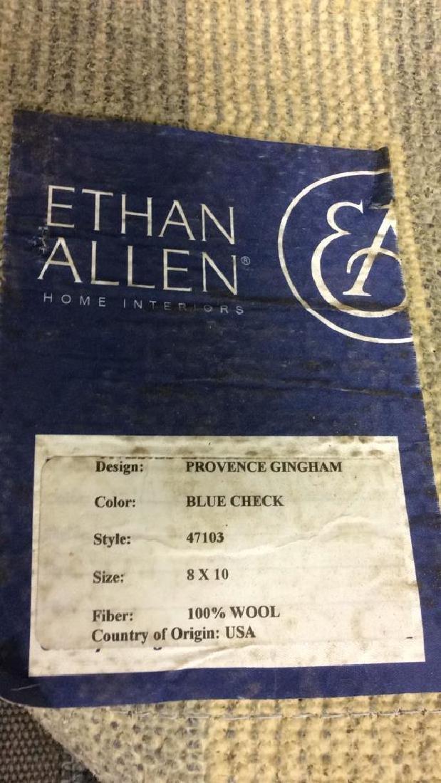 ETHAN ALLEN PROVENCE GINGHAM Blue Check Rug - 7