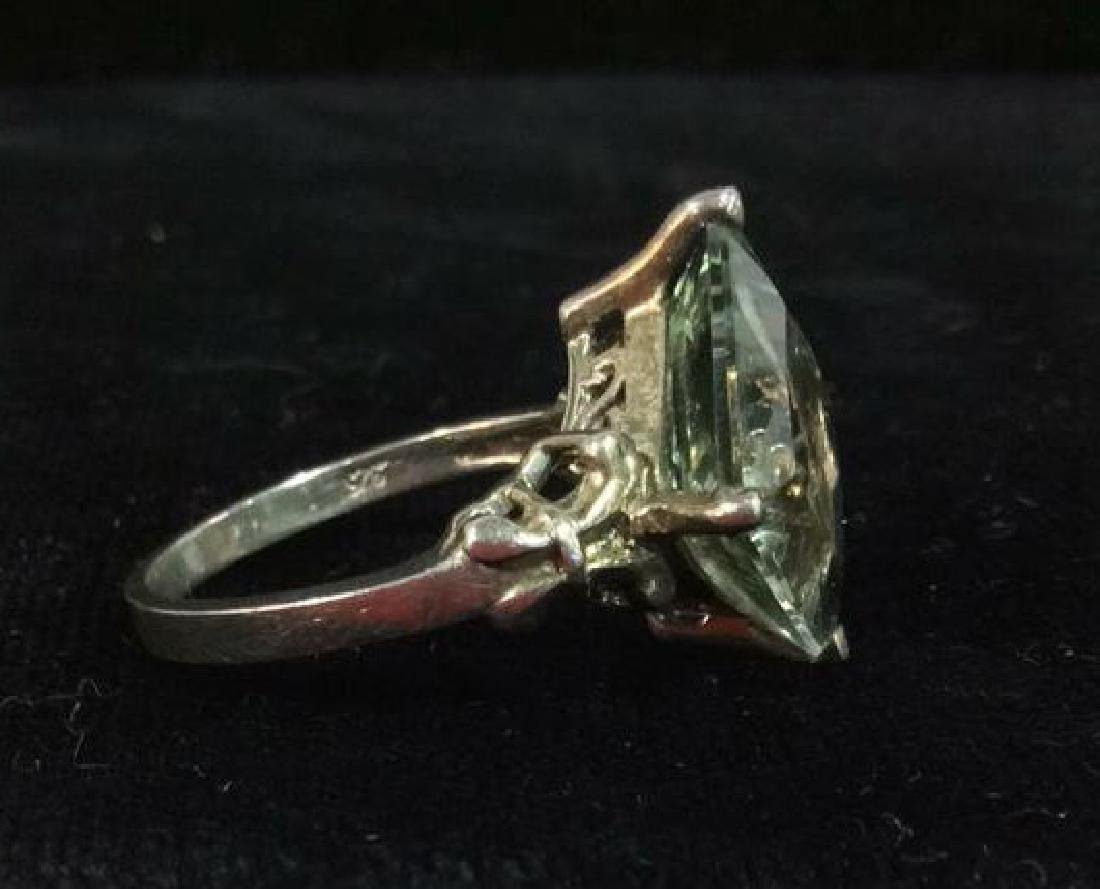 Sterling Silver Ring W Greens Gemstone