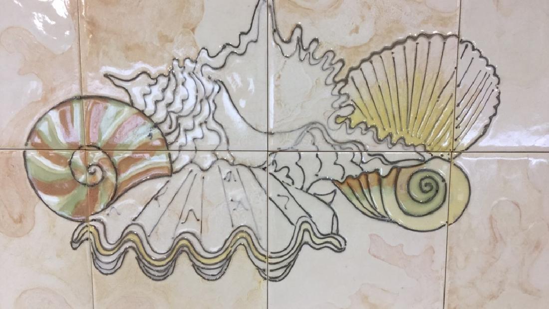 Harris Strong Framed Tiles Seashell Artwork - 2