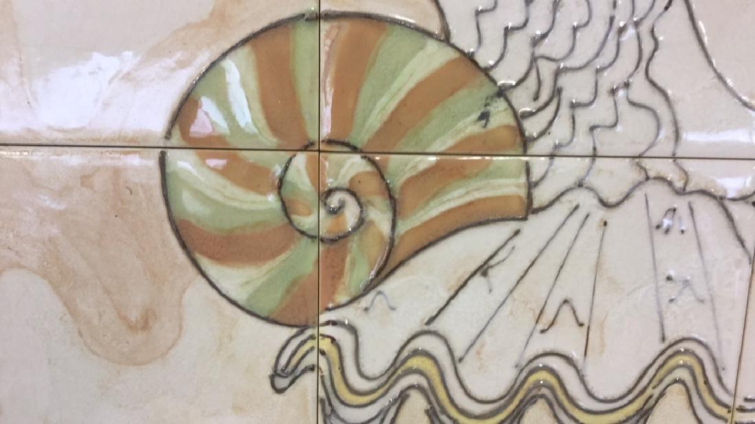 Harris Strong Framed Tiles Seashell Artwork - 3