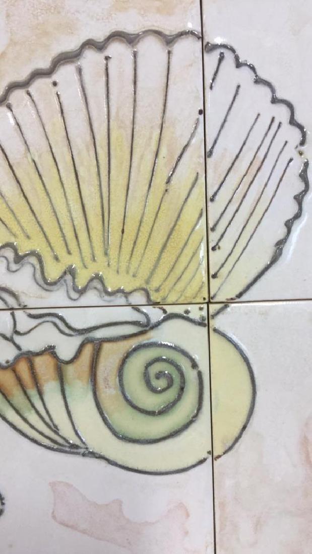 Harris Strong Framed Tiles Seashell Artwork - 4