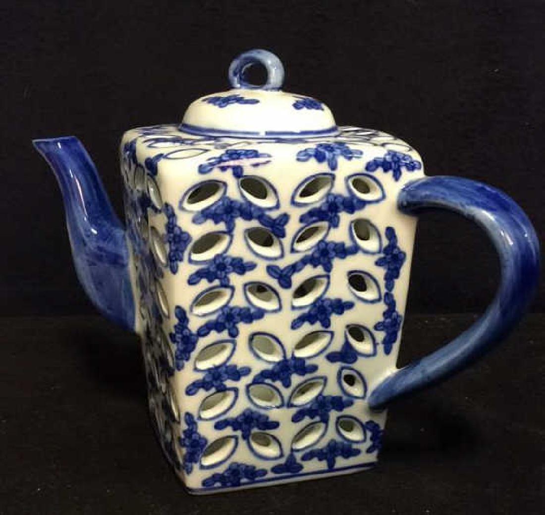 Teapot Figural Oriental Style Candleholder