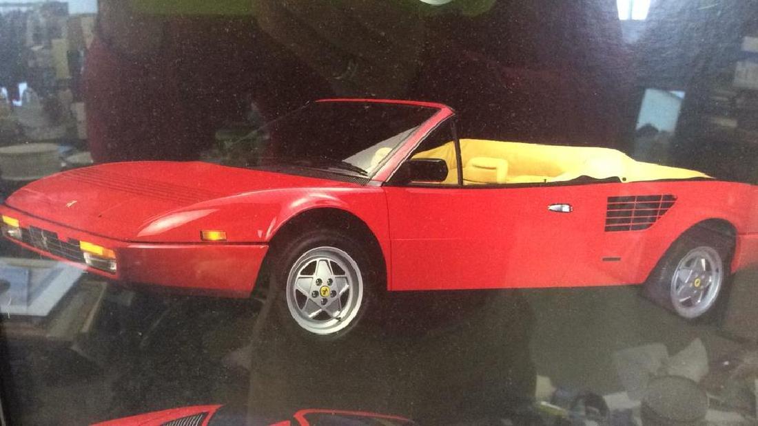 Framed Ferrari Car Poster