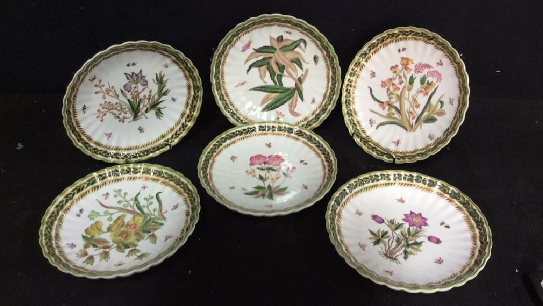 Set 6 TWOS COMPANY Decorative Floral Plates
