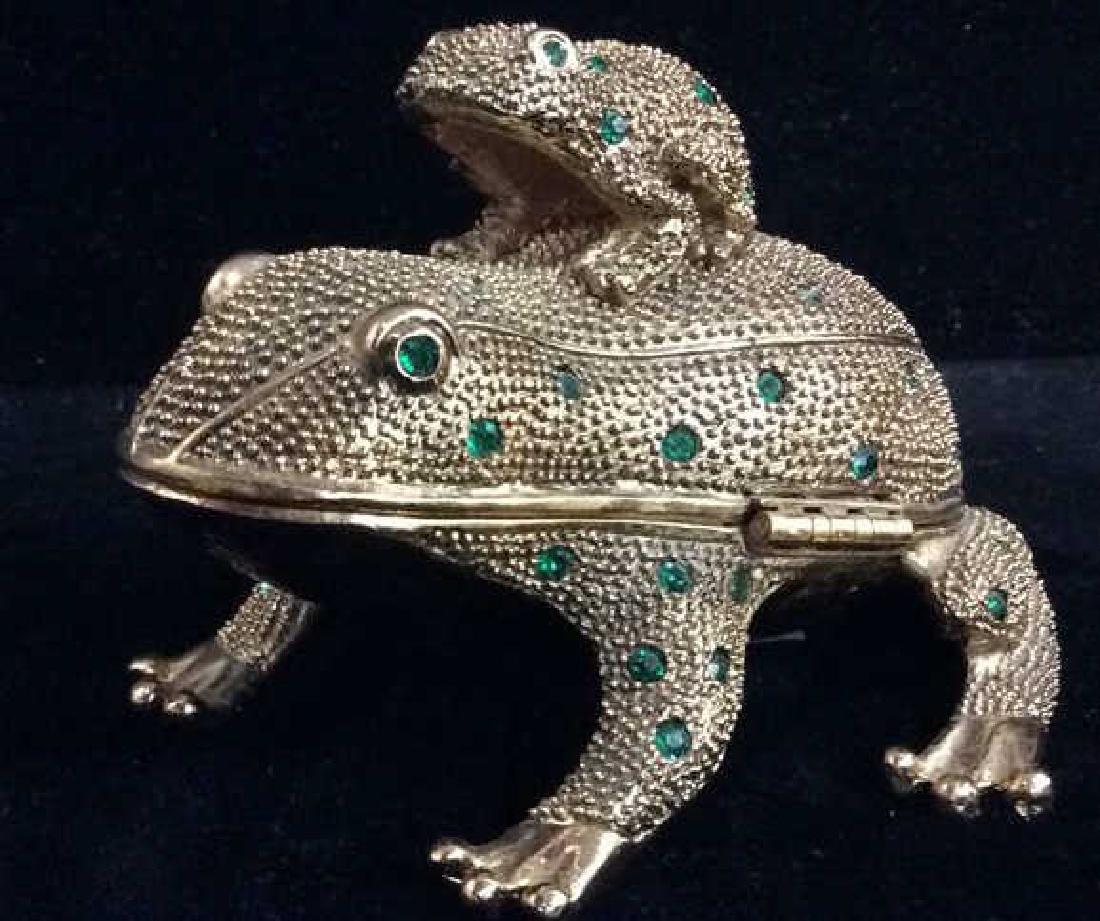 Desk Set Frog Box Figural W Accessories