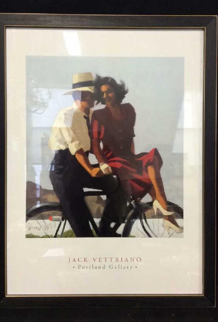 Jack Vettriano Portland Gallery Exhibition Poster