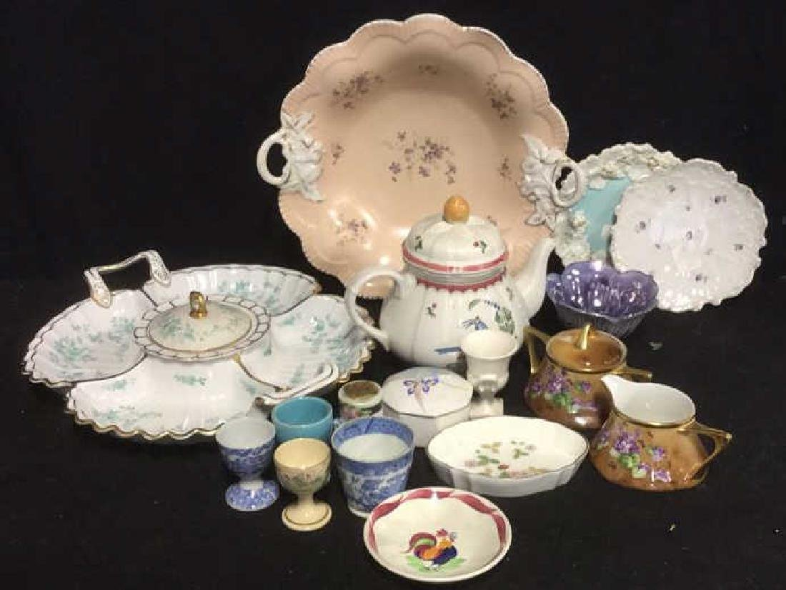 Group Lot Assorted Table Top Porcelains