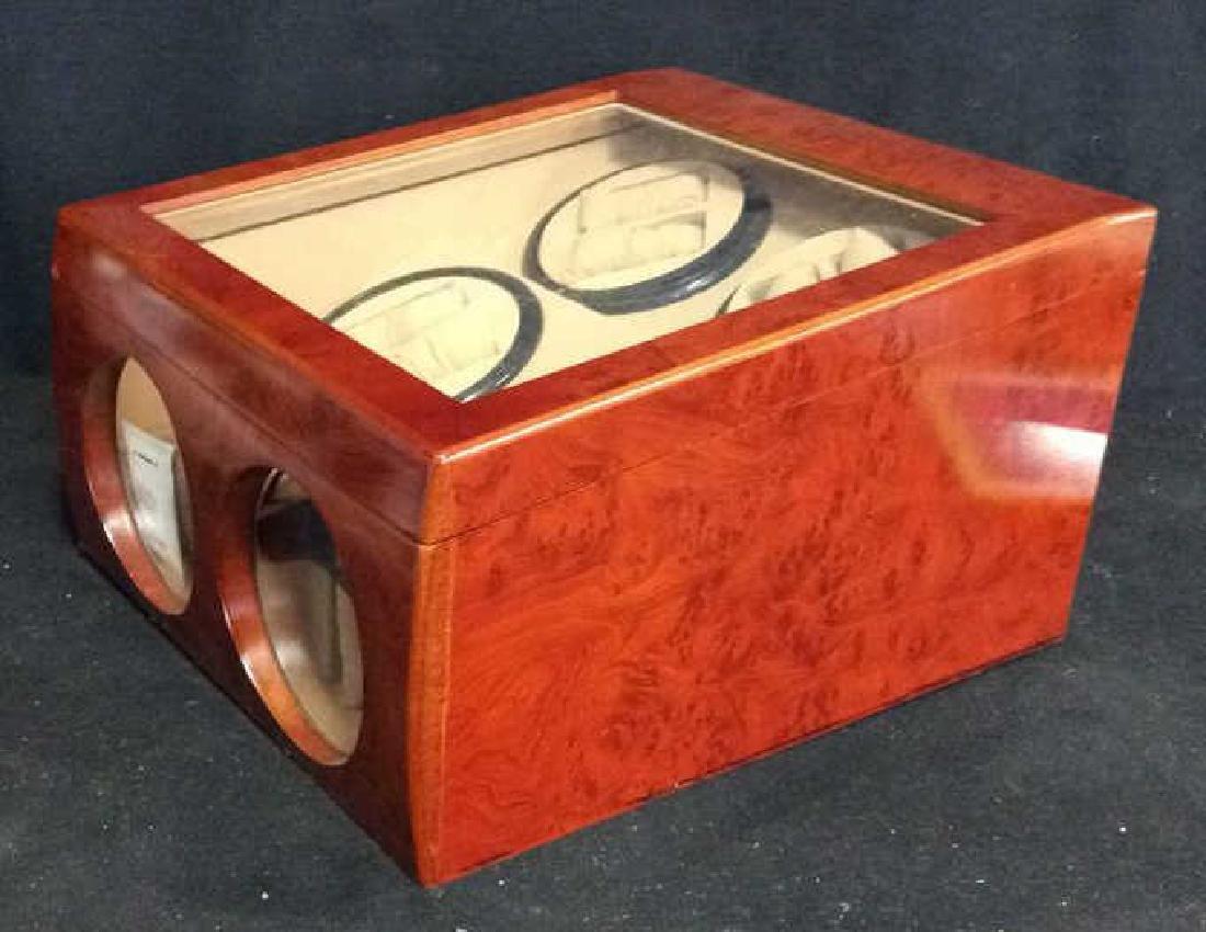 Burled Wood 4 Watch , Watch Winder Bix