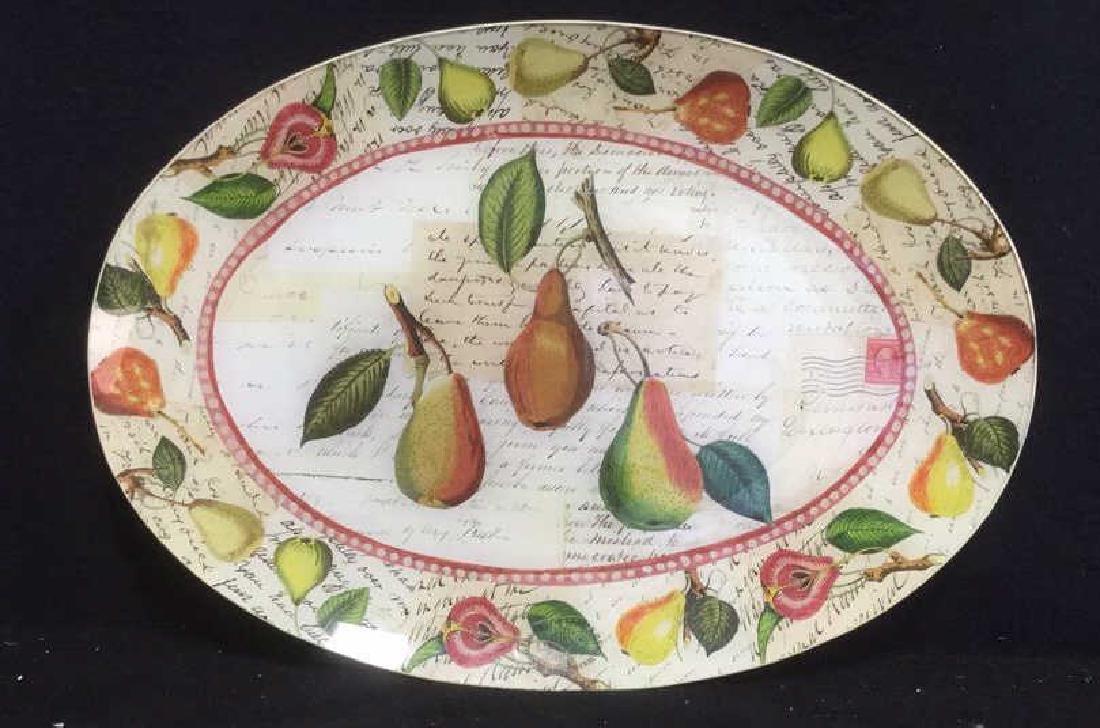 John Derian Signed Oval Decoupage Platter