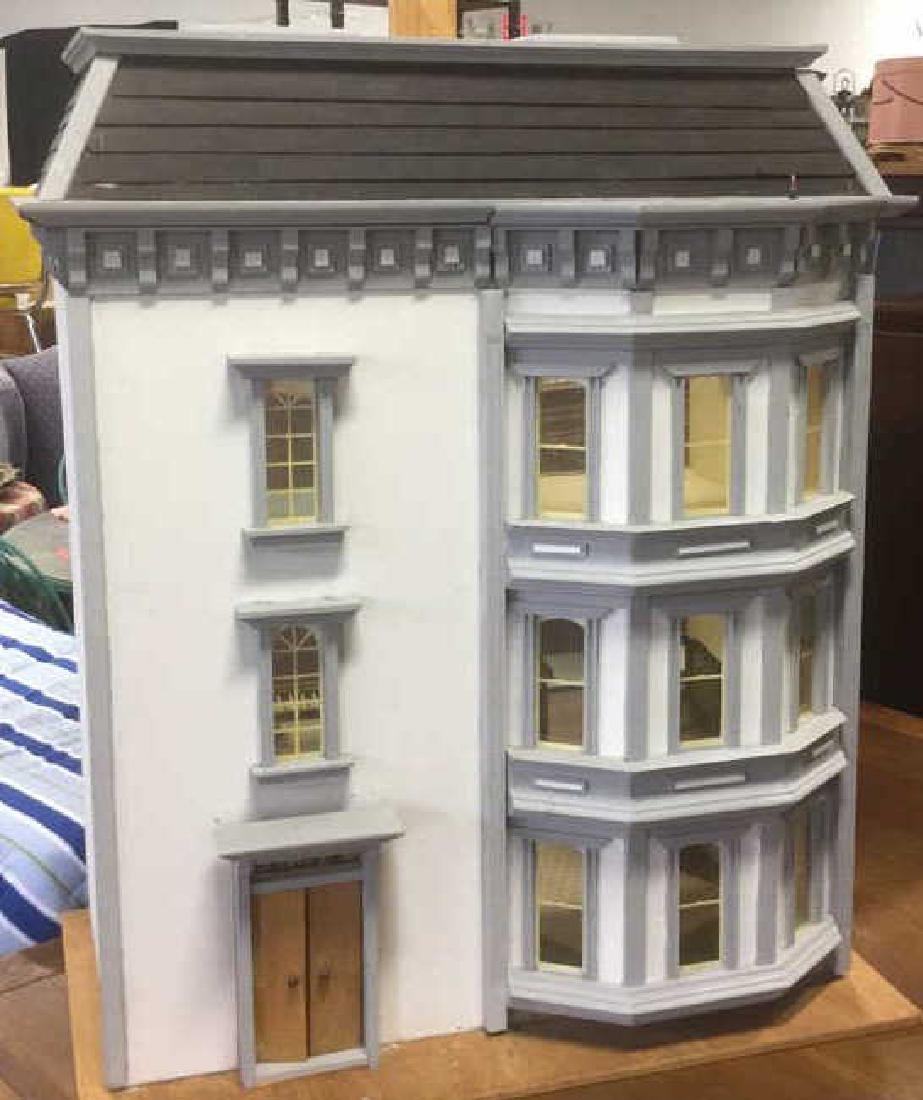 Four Story Hand Crafted Wooden Dollhouse