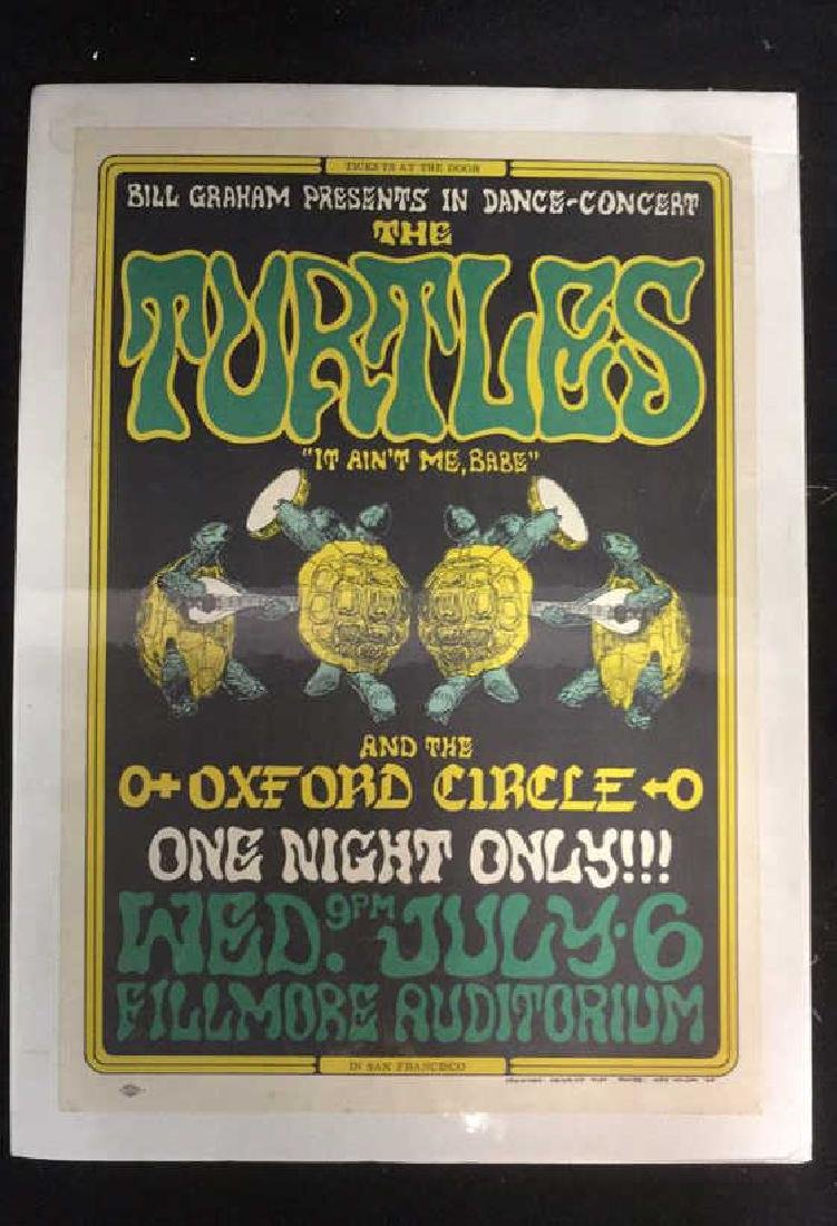 Vintage MusicThe Turtles Ad Poster,1960