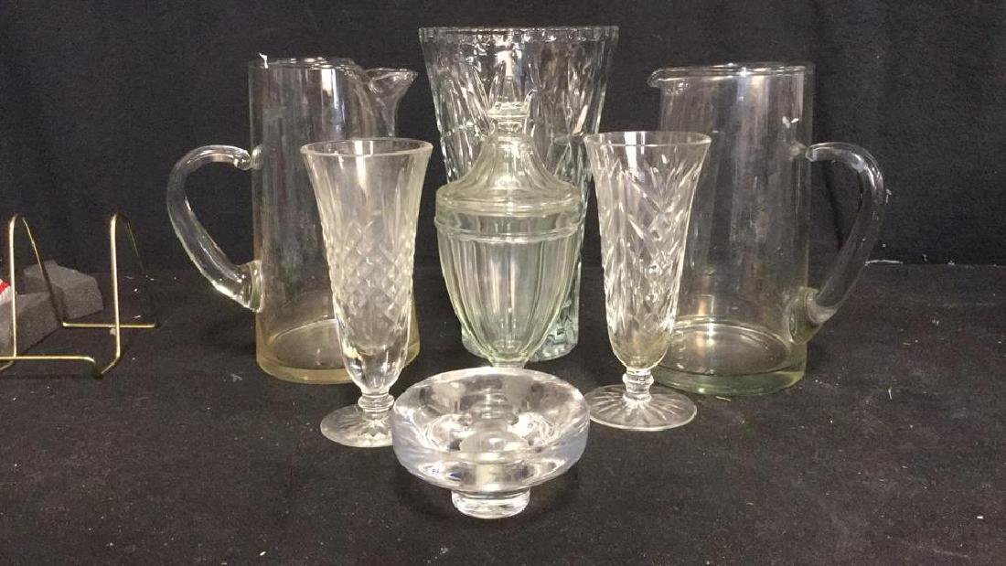 Glass and Crystal Tabletop Group Lot 7