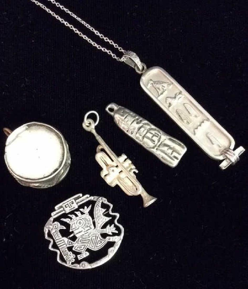 Lot 5 Assorted Silver Toned  Charms