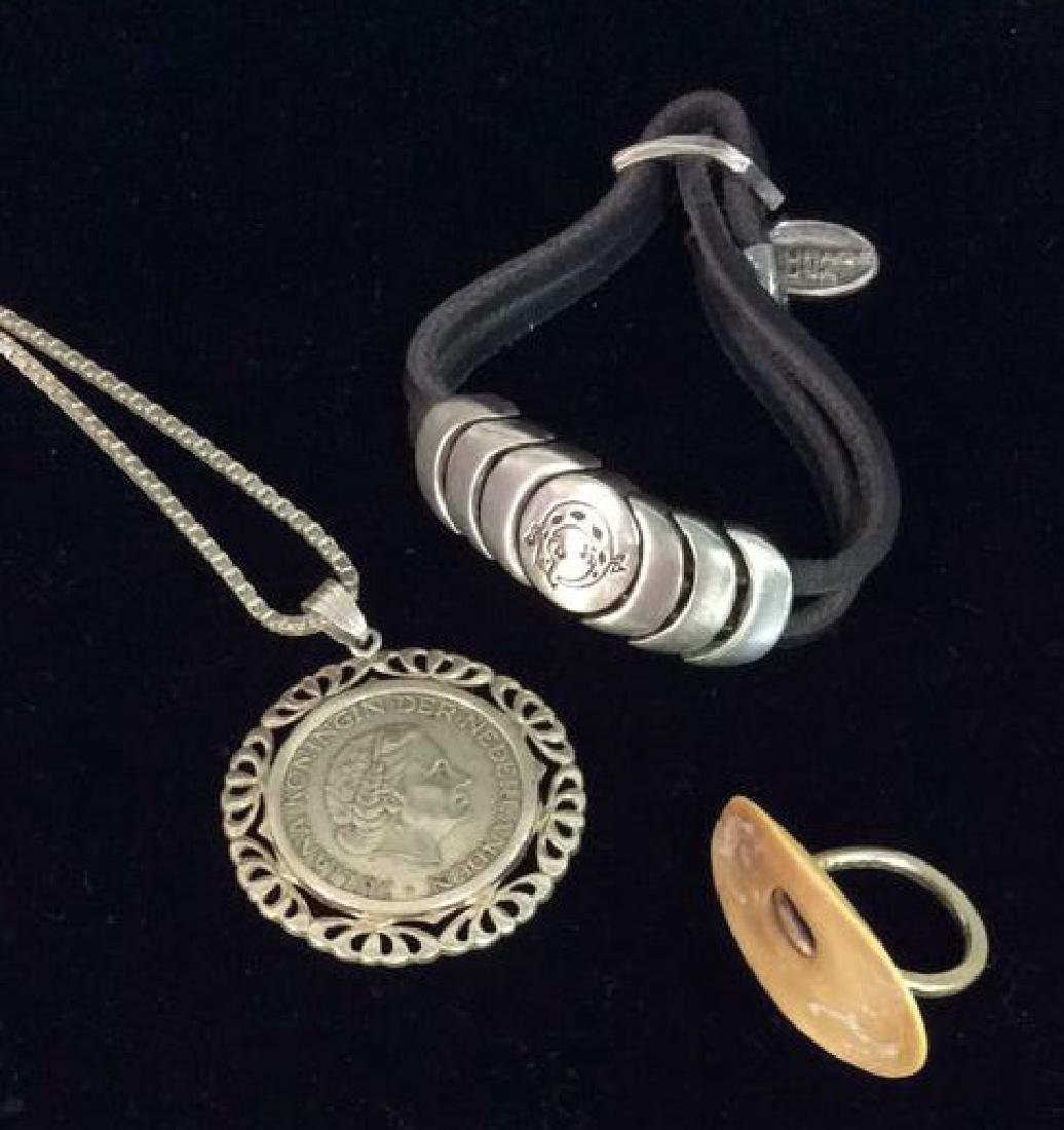 Lot 3 Assorted Silver Toned Jewelry