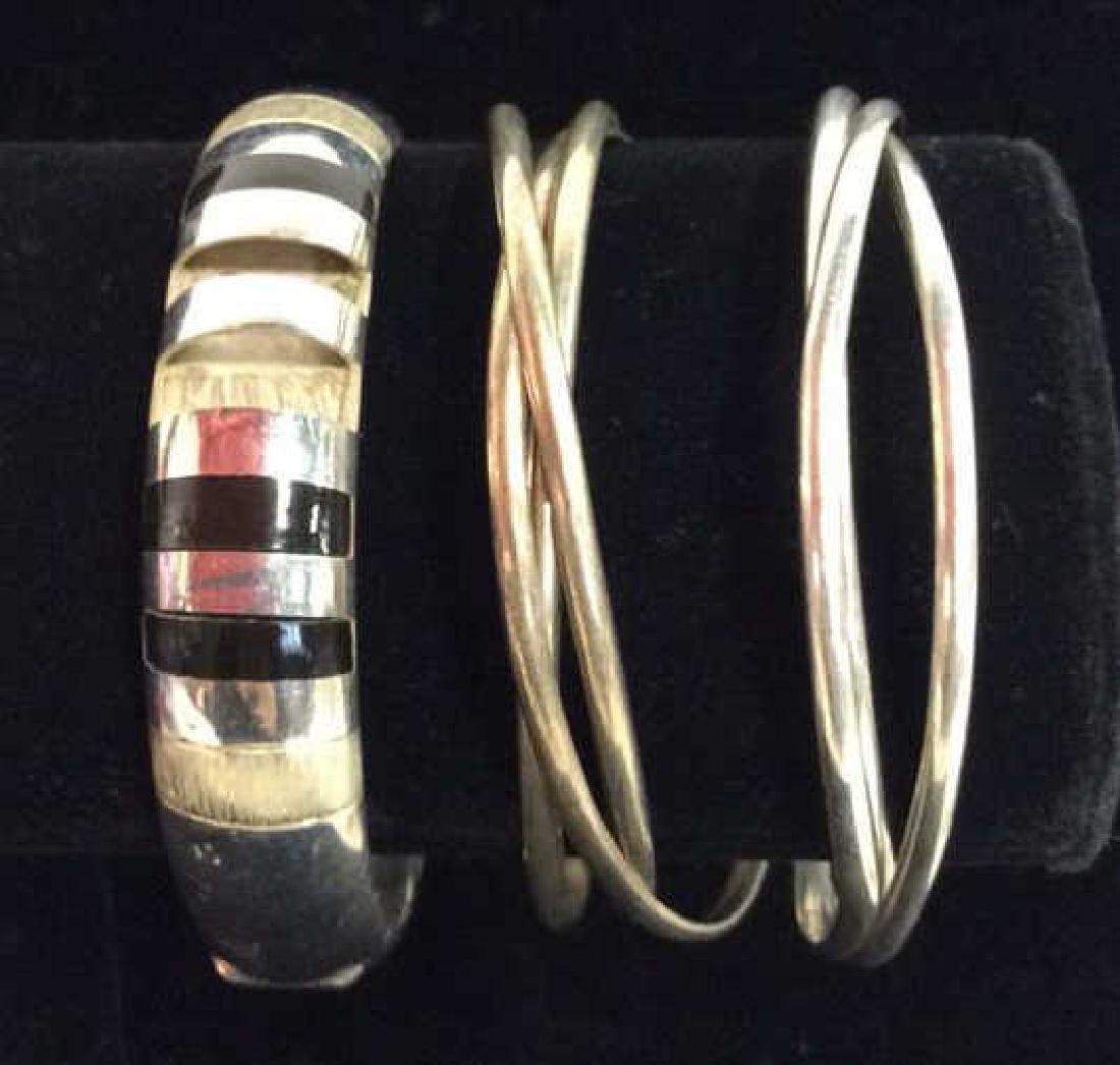 Lot 3 Assorted Sterling Silver Bracelets