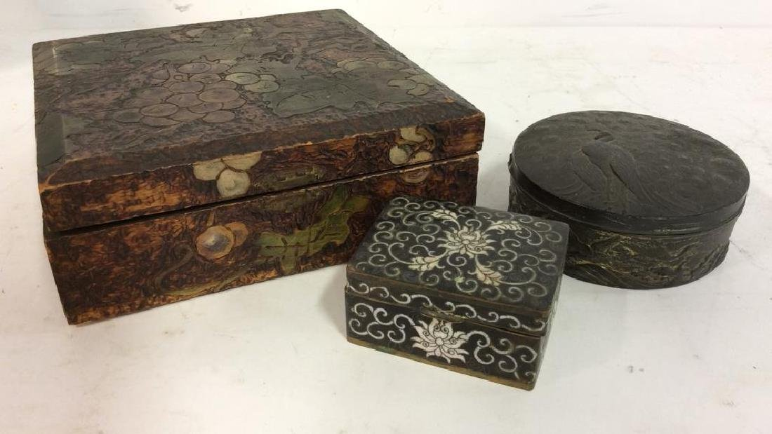 Lot 3 Assorted Jewelry and Trinket Boxes