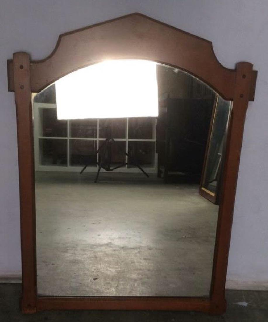 VIntage Carved Wood Frame Mirror