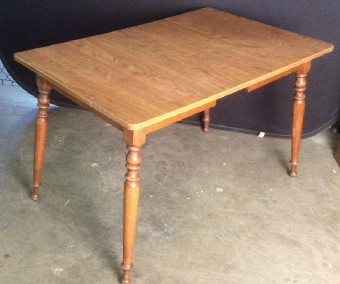 Vintage Carved Wooden Dining Table
