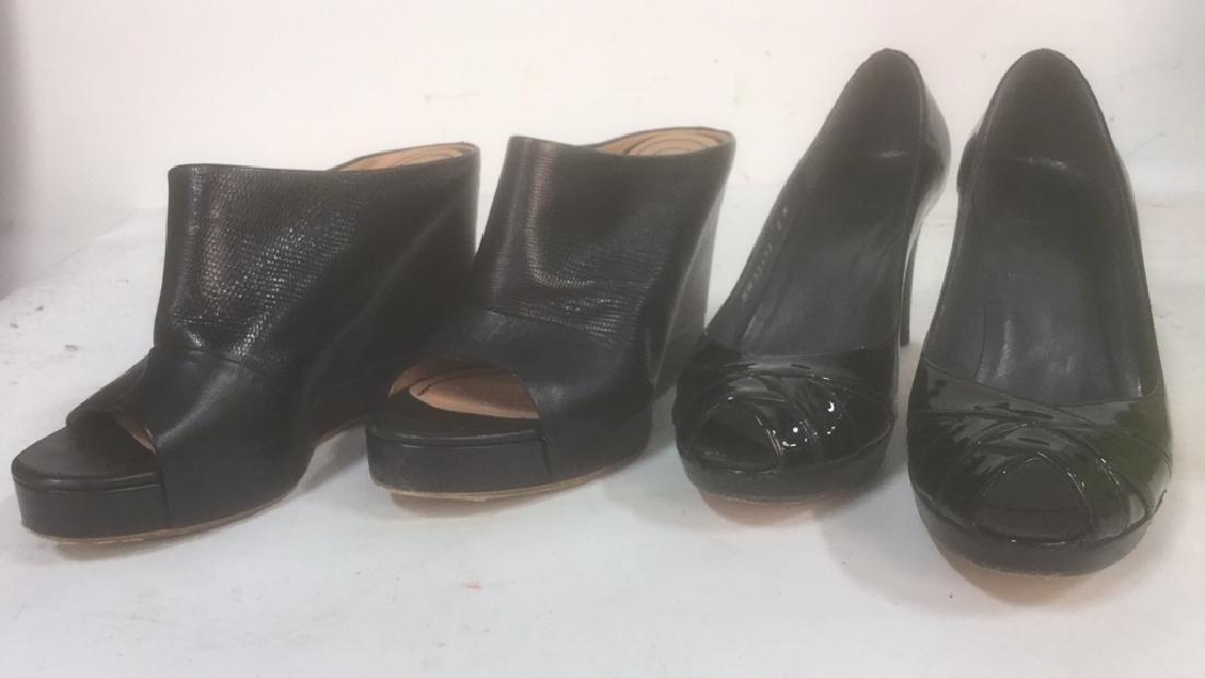 2 Pair Ladies Black Shoes Chloe Stuart Weitzman