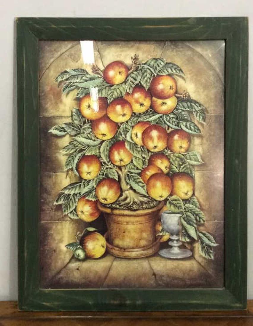 JD GORDNERI Framed Folk Art Fruit Print