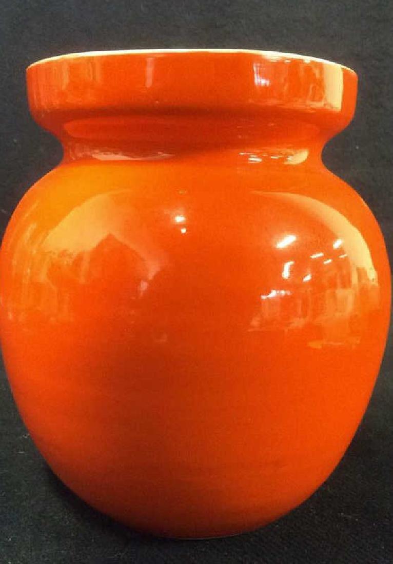 Orange Toned Italian Ceramic Planter