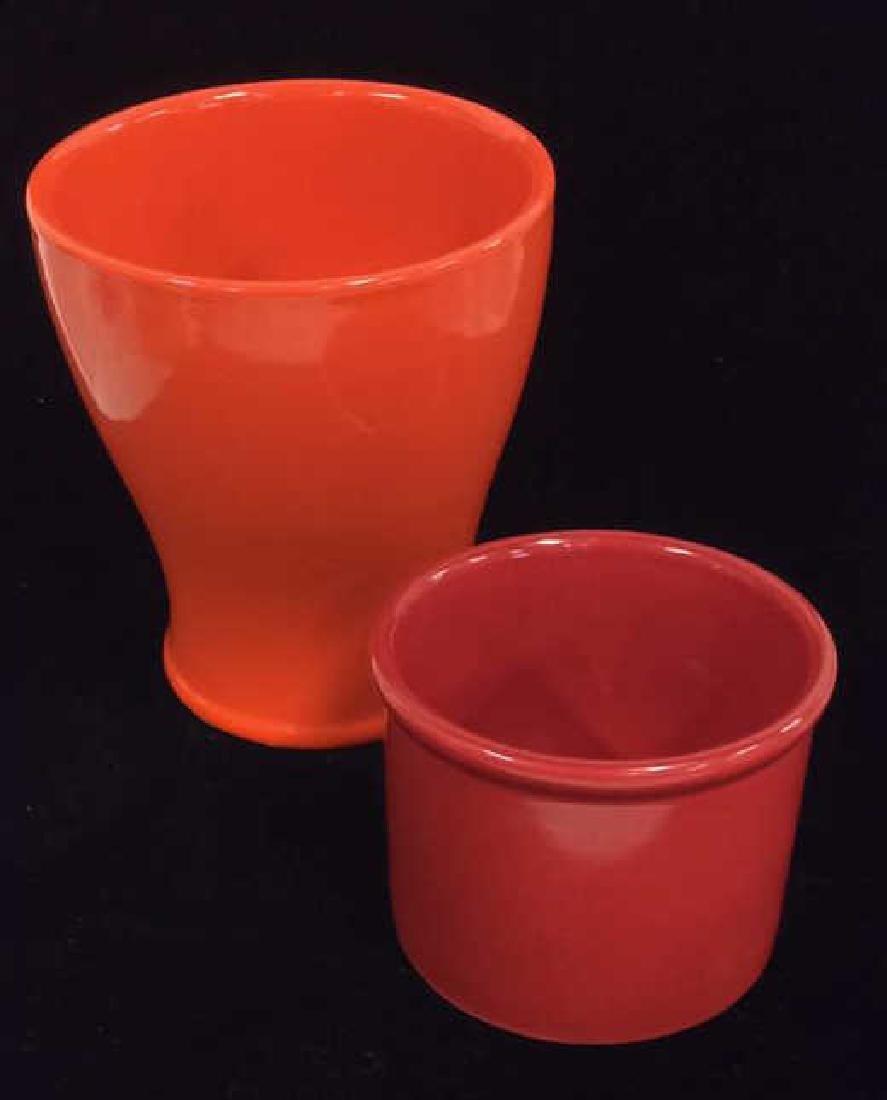Lot 2 Ceramic Red&Orange Toned Food Dishes