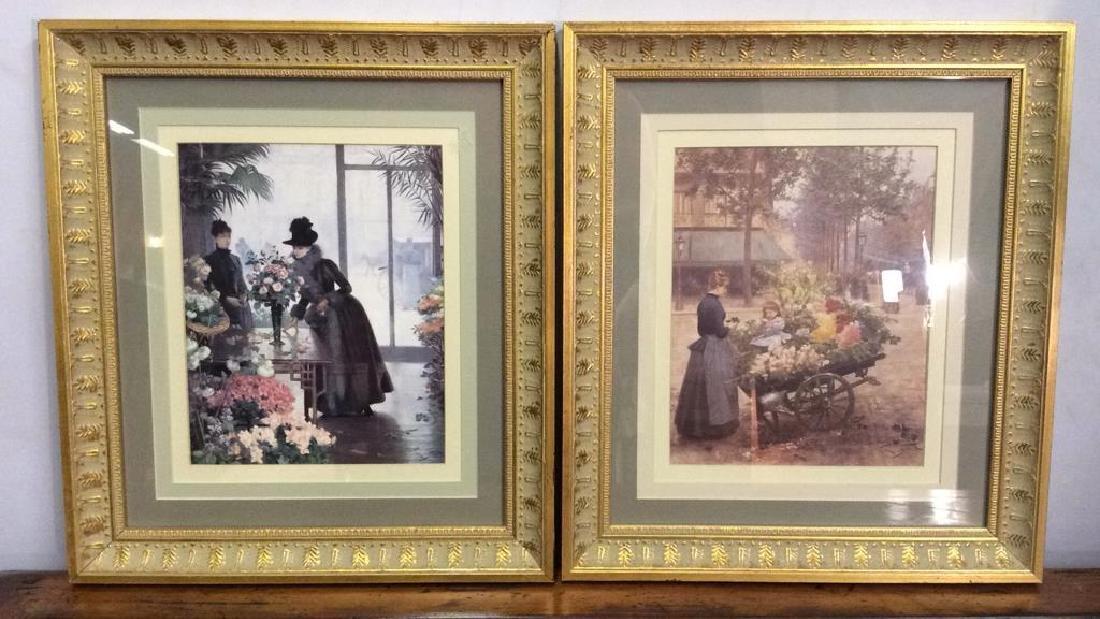 Lot 2 VICTOR GILBERT Gilt Framed Prints