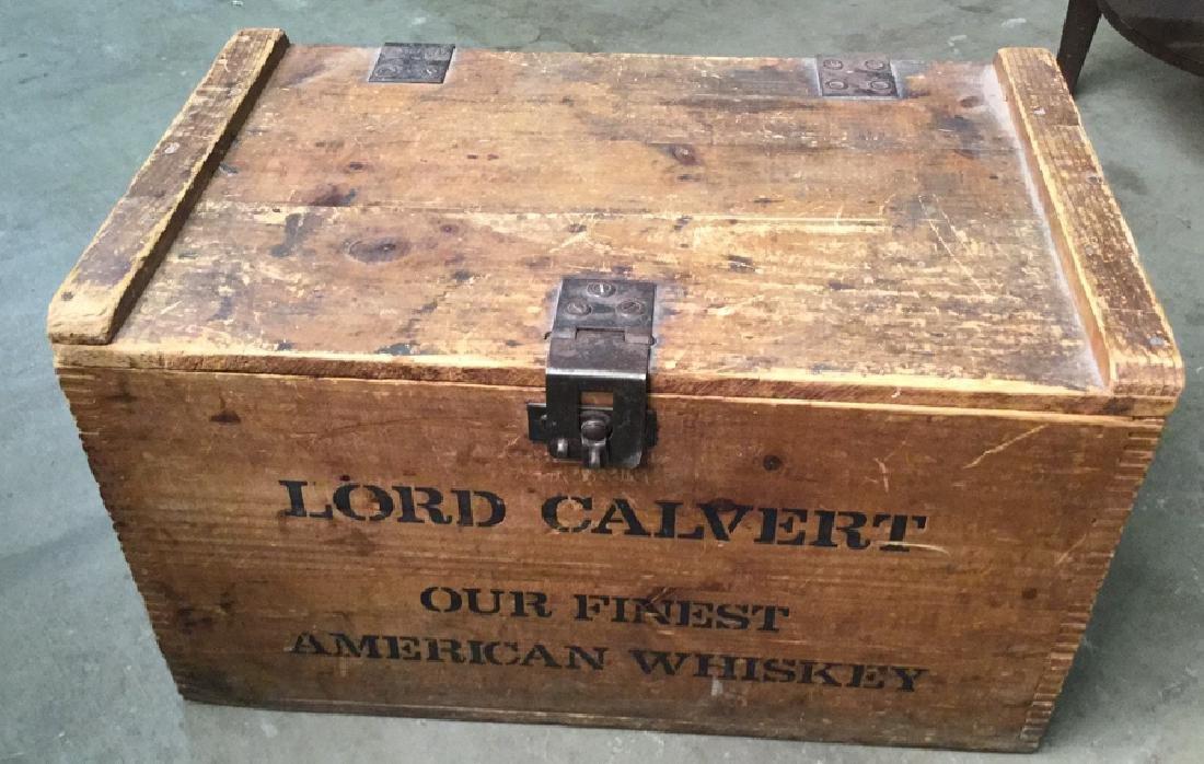 Vintage Lord Calvert Whiskey Trunk