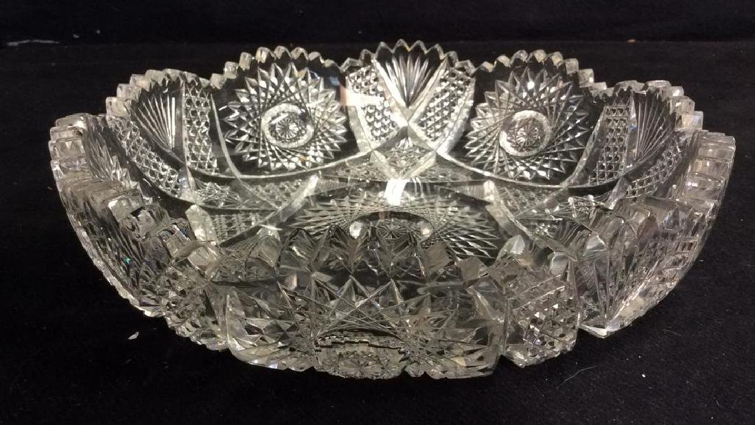 Cut Crystal Toothed Display Bowl