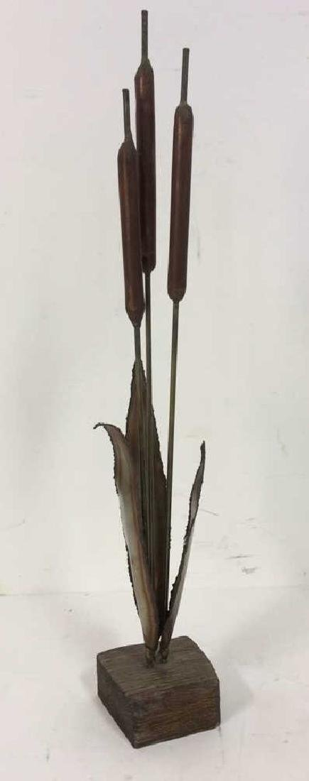 Metal-Magic Cattails Sculpture