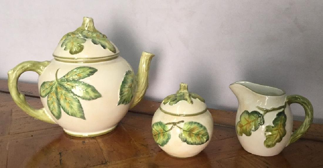 Lot 3 Italian Ceramic Tea Set Mariposa