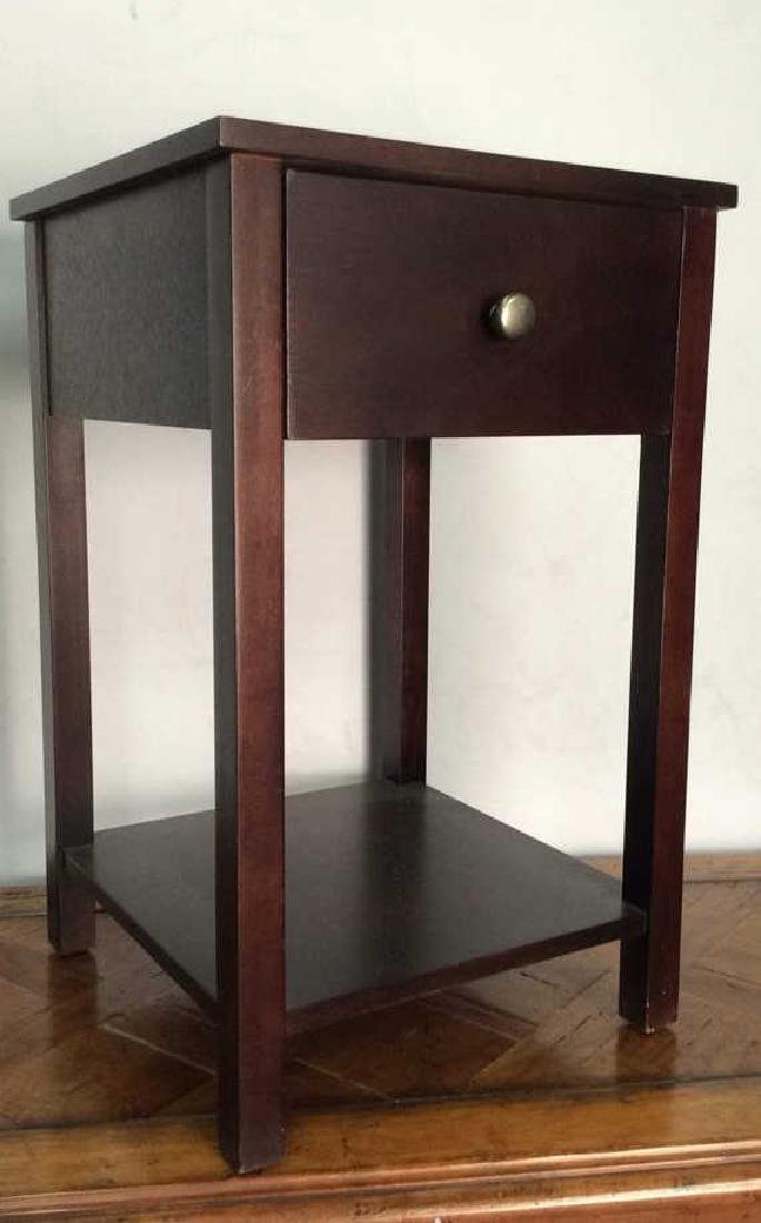 Wooden Side Table W Drawer