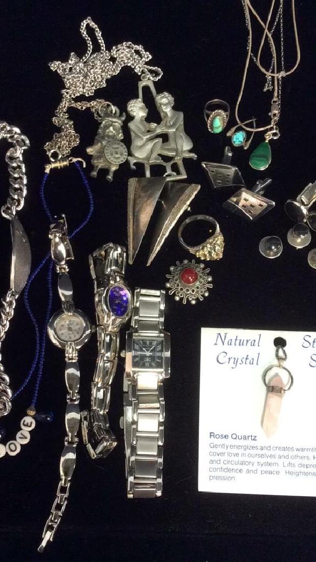 lot 16 Assorted Silver Toned Women's Jewelry