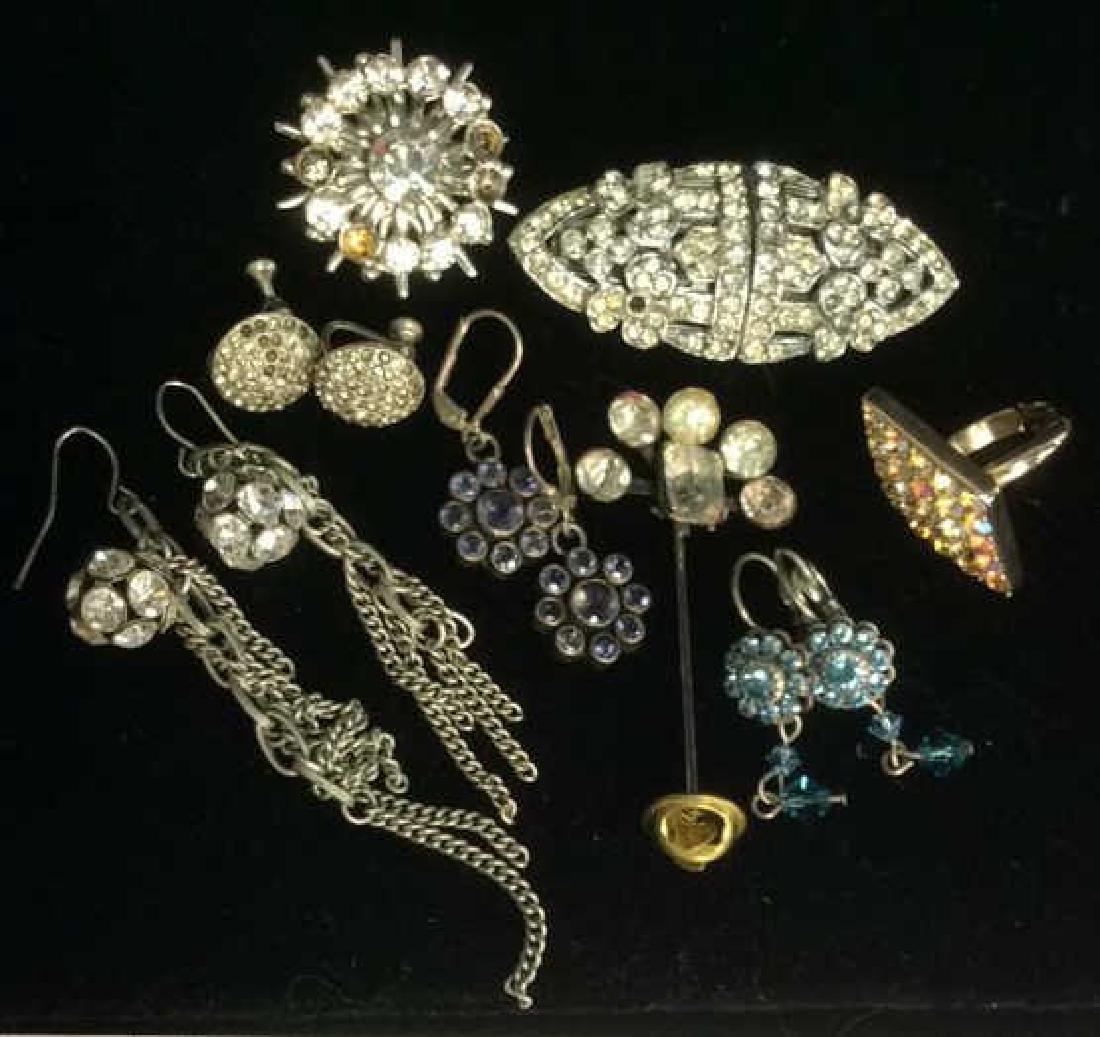 Lot 8 Assorted Vintage Rhinestone Jewelry