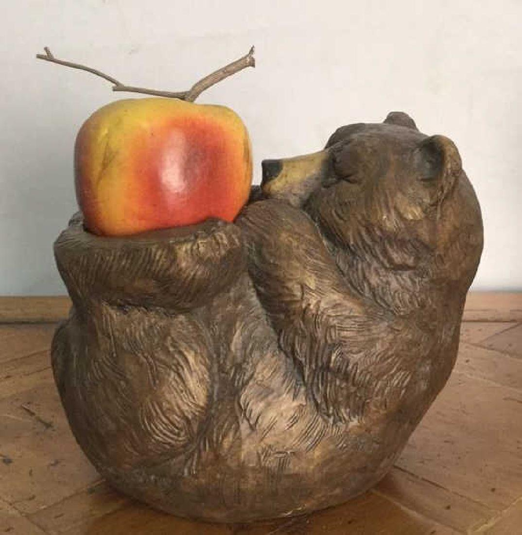 Bear Candle Holder Statue