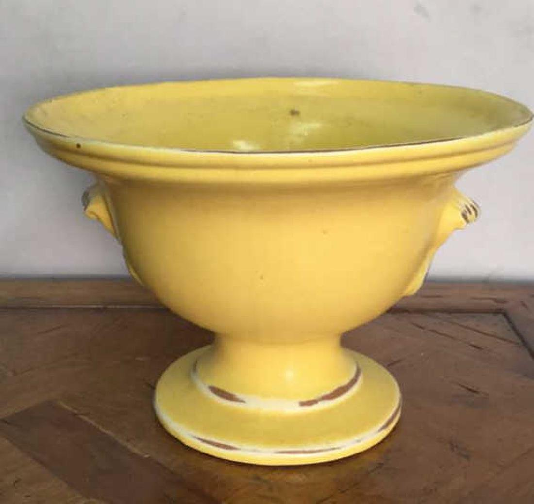 Yellow Ceramic Decorative Planter Footed Bowl