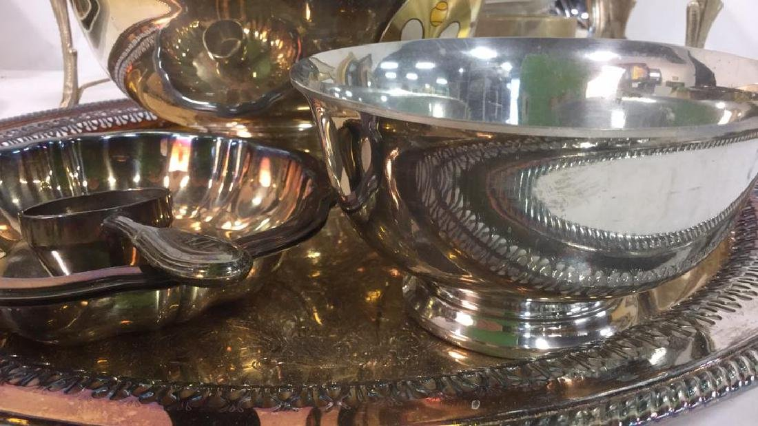 Silver Plate Group Table top Accessories