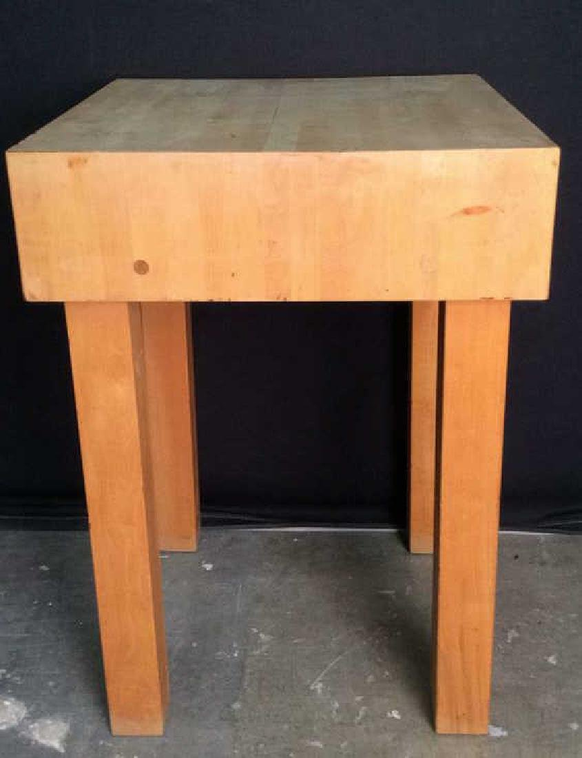 Wooden Butcher Block  Side Table