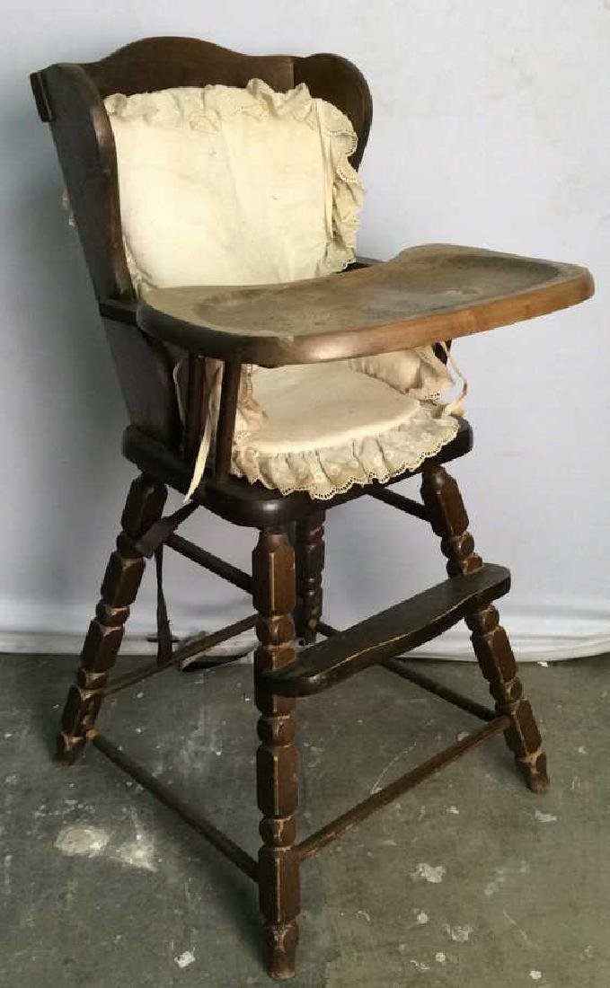 Vintage Carved Wooden HIgh Chair