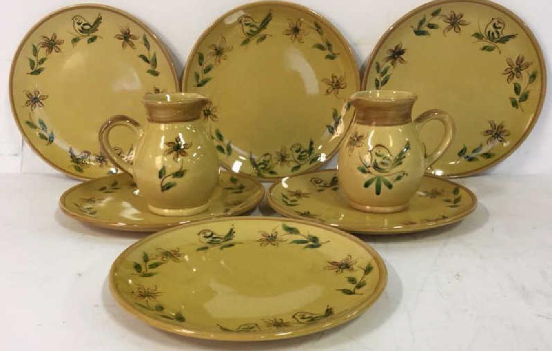 Le Poet Laval France Pottery Dish Set