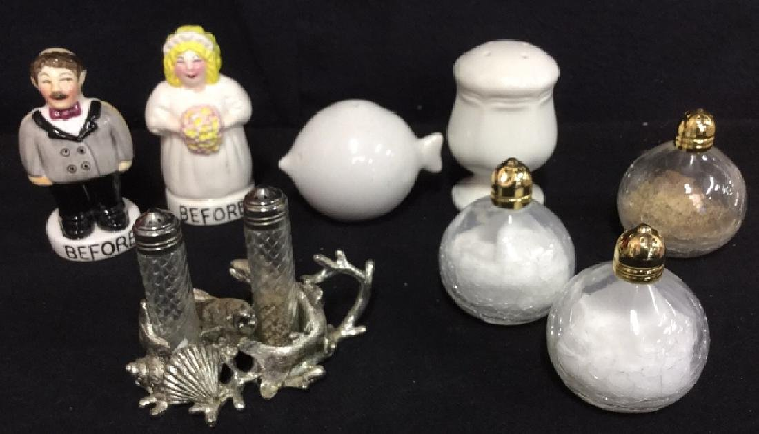 Lot 8 Mixed Lot Of Salt And Pepper Shakers