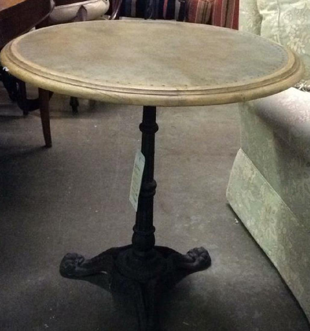 COUNTRY WILLOW Iron Pedestal Side Table