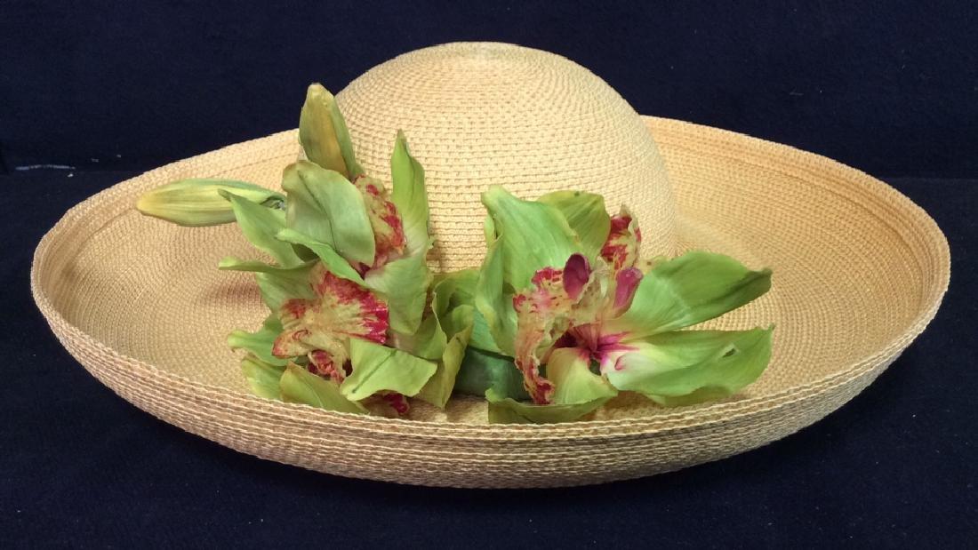 SARAH SOSS Millinery Ladies' Hat W Floral Detail
